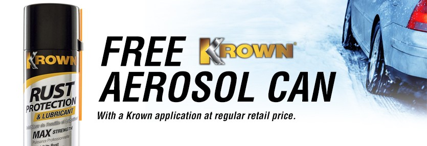 Krown Online Special Offer - Cannot be combined with any other offer. Limit 1 per customer. Coupon expires Apr 30, 2016.